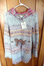 NWT Anthropologie ODD MOLLY Jacket Sweater Coat Cardigan Hoodie 1: XS or S