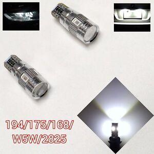 T10 W5W 168 194 2825 12961 White LED Bulb Front Corner Parking Light Canbus B1 U
