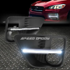 FOR 15-17 SUBARU WRX STI LED DRL BAR BUMPER DRIVING FOG LIGHT LAMP BEZEL COVER