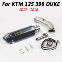 For KTM 125 250 390 Duke Slip on Middle Link Connect Pipe Exhaust Muffler Pipe