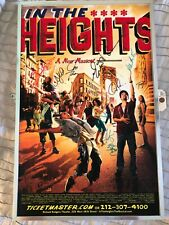 Signed Broadway Window Card Poster - In the Heights