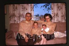 1960s  amateur Kodachrome Photo slide family on couch