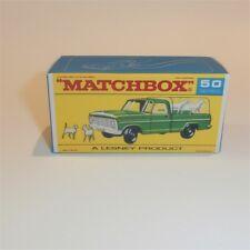 Matchbox Lesney 50 c Ford Kennel Truck empty Repro F style Box Plain