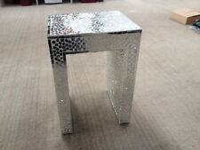 Mosaic Mirror Tile Bedside or Side Table - STUNNING