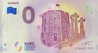 BILLET 0  EURO  VILNIUS  LITUANIE 2018  NUMERO 1000