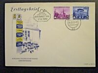 Germany DDR SC# 231 / 232 1955 FDC / Unaddressed / Cacheted - Z4540