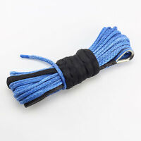 """Dyneema Cable Rope Blue 50' X 1/4"""" Synthetic Winch for ATV/UTV Recovery 6680LBS"""