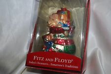 Fitz and Floyd hand-painted Super Cute Ornament Nib Stocking filled