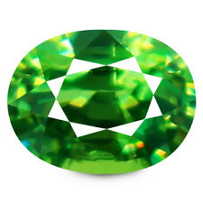 1.67ct 100% Natural earth mined extremely rare aaa green demantoid garnet russia