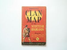 Johnstons Clan Map of the Scottish Highlands, Folding Map, c1950s