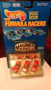 "Hot Wheels Mini Formula Racers "" Magneti Marelli"" Ferrari 3 Pack"