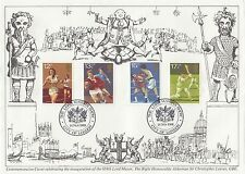 (74404) FIN DE STOCKS GB FDC Sport - Lord Mayor City of London 14 Novembre 1981
