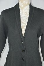 Alfani Womens Large Gray 3 Button Sweater Layer Jacket Long Sleeve Blazer Soft