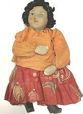 Antique Peasant Stockinette Doll Ziqanka, Gypsy Cloth Pre-1930's Vtg Russian