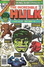 The Incredible Hulk Comic Book King-Size Annual #5, Marvel 1976 VFN/NEAR MINT