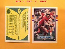 1989 Topps Traded Steve Young #24T San Francisco 49ers HOF ( Buy 1 get 1 free )