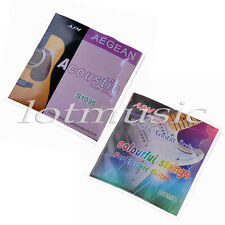 2 Guitar Strings Electric Colorful Strings & Acoustic Bronze Wound Extra Light