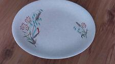 Vintage 1950s Grindley China Oval Platter 31 x 26cms Blue Red Grasses VGC