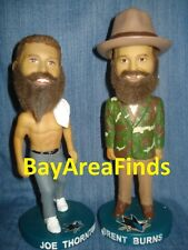 San Jose Sharks Brent Burns Camo Suit & Shirtless Jumbo Joe Thornton bobblehead