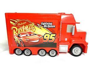 Disney Pixar Cars Lightning Mcqueen Mack Rust-Eze Talking Lights Truck Workshop
