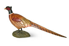 Pheasant Hand Wood Carving Sculpture Rustic Cabin Decor