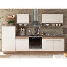 Küchenzeile Welcome 1 Küche Einbauküche in Monument Oak weiß matt und stone dark