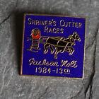 Vintage Pin Brooch Shriners Enamel Masonic Medal 1984 Jackson Hole Cutter Races