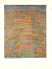 """1967 Vintage PAUL KLEE """"HIGHWAY AND BYWAYS"""" FABULOUS COLOR offset Lithograph"""