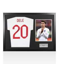 More details for framed dele alli signed england 2018/19 style t-shirt number 20 - panoramic