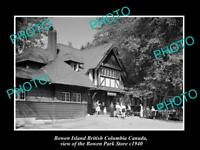 OLD LARGE HISTORIC PHOTO OF BOWEN ISLAND CANADA, THE BOWEN PARK STORE c1940