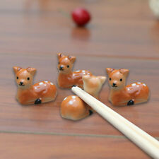 2x Kawaii Animal Plum Deer Chopsticks Spoon Holder Kitchen Chopstick Rack Top