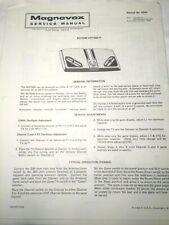 Magnavox Odyssey Game Service Manuals for Models BG7500, BG7516, & BG7520