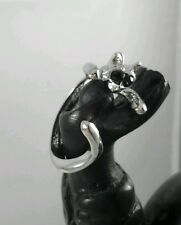 Anillo De Gato Ajustable Color Plata 1