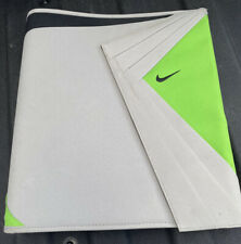 Vintage Nike Mead Binder Trapper 3 Ring Organizer Zipper Gray Green Folders