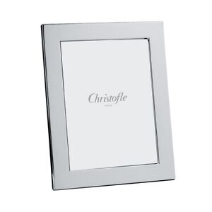 "CHRISTOFLE FIDELIO SILVER PLATED 4"" X 6"" PICTURE FRAME #4256270 BNIB CLEAR F/SH"