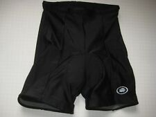 Performance Womens Used Black Spandex Padded Bike Bicycle Cycling Shorts Seze L
