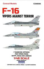 Caracal Decals 1/48 F-16 VIPERS AGAINST TERROR Egypt Iraq & Jordan
