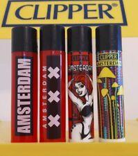 Clipper Lighters 4 Rare Cool Amsterdam Black Top Red XXX Mushroom Xmas Gift New
