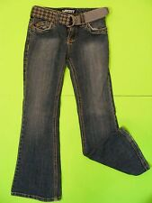 "Roxy Girl Girl's Denim Jeans Size 7 Inseam 22"" Flare Bottoms with Belt"