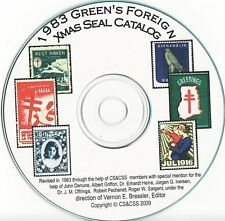 Green's Catalog, Part 3, Foreign TB Charity Seals, 1983 ed., CD