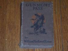 Gunsight Pass By William MacLeod Raine