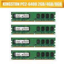 2GB DDR2 PC2-6400 For 4GB Desktop CL6 240pin RAM Memory 800Mhz Kingston OEM 8GB