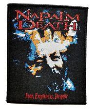 NAPALM DEATH  ( fear, emptiness,despair ) WOVEN PATCH