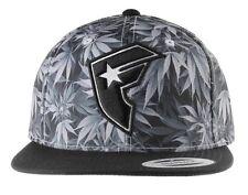 FAMOUS STARS & STRAPS HERBS MARIJUANA WEED SMOKE POT BLACK SNAPBACK HAT CAP