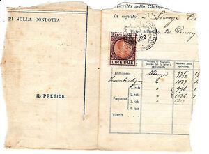 MARCA DA BOLLO LIRE DUE 1922 2-166