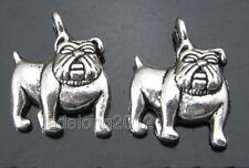20pcs Tibetan Silver Dog Charm Pendant Jewelry Making  NH51