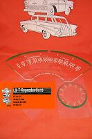 1955 56 Chevy Dash Lens Set Standard Plastic Belair Sedan Hardtop Nomad Wagon