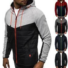 Men Zip Up Hoodie Hooded Lightweight Sweatshirt Fleece Top Hoody Jumper Pullover