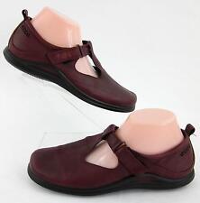 ECCO Womens Cutout Leather Mary Jane Shoes Merlot Sz 41 EU / 10-10.5 US