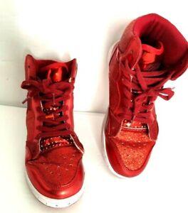Pastry Pop Tart Red Glitter High-Top Sneaker Dance Shoe Girls  Woman 6